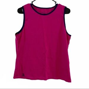 LANDS END pink and dark navy tank top
